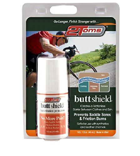2Toms ButtShield gegen Wundscheuern + Hautirritationen - entzündungshemmend mit extra Pflegeformel - für Po, Oberschenkel, unter der Brust (Roll-On 45 ml) (Wunder Räder)