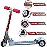 Zest 4 Toyz Skate Scooter for Kids with 3 Wheels and 3 Position Adjustable Height (Red)