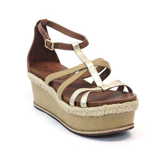 Juicy Couture d'orteil ouverte et à plate-forme de tong Taille 3,5, prix de vente conseillé 129 £ - Natural-metallic-gold