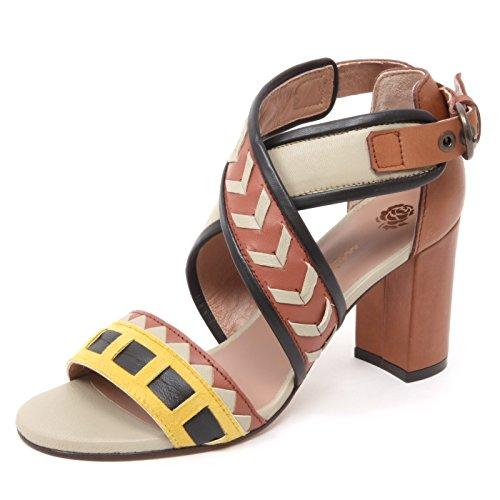 B4942 sandalo donna MALIPARMI scarpa multi stripes sandal shoe woman  40  3246470256d
