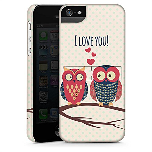 Apple iPhone X Silikon Hülle Case Schutzhülle Herz Eule Love Premium Case StandUp