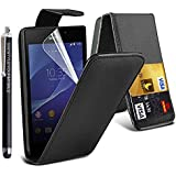 STYLEYOURMOBILE SONY XPERIA Z (C6603) VARIOUS PU LEATHER MAGNETIC FLIP CASE SKIN COVER POUCH + STYLUS