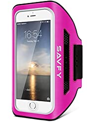 Brassard Sport pour iPhone 7, SAVFY Brassard Smartphone pour Course Jogging Vélo Pêche Sangle Réglable Rose