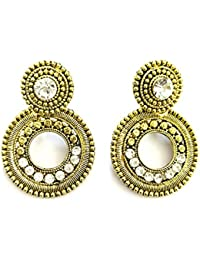 "Shafiqua Jewellery Golden Traditional Heavy Look Drop Earring For Women And Girls. Search ""Shafiqua "" In The Search..."