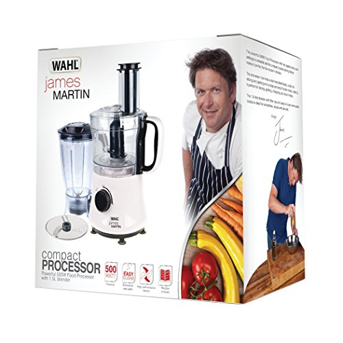 James Martin ZX835 by Wahl Compact Food Processor with Blender, 500 W – White