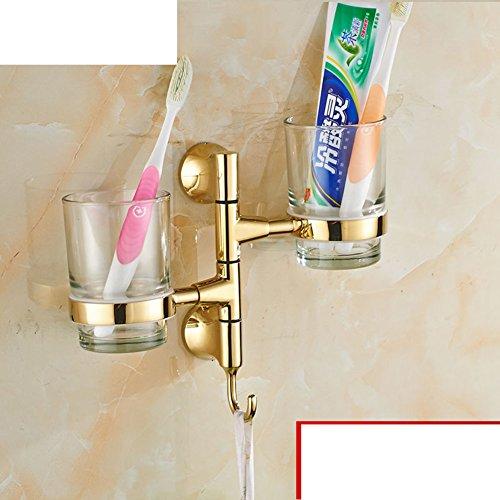 porte-gobelet de brosse à dents Continental/ Golden Soseki/ Verre porte-gobelet rotatif/Bleu et blanc porte-gobelet en porcelaine Salle de bains Activités-K
