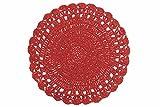 Villa d'Este Home Tivoli 2408194Set de 6pièces Crochet ronde, raphia, rouge