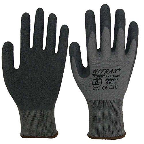 NITRAS Nylotex 12 Paires Des gants de latex 3520