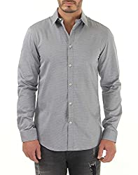 Jack & Jones Mens Casual Shirt (5712831877663_12098688Black_Large)