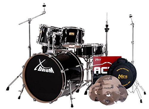 xdrum-stage-ii-fusion-drum-set-set-include-mes-act-set-di-piatti-e-supporto-piatti-percussioni-set-c