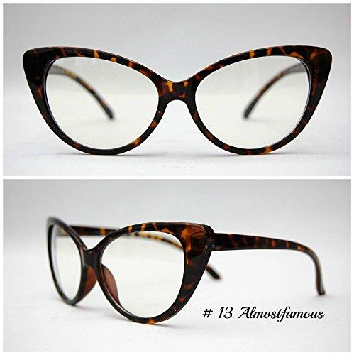 Büro Rockabilly Schildkröte Retro Geek Vintage Wayfarer Nerd Rahmen Fashion Schwarz Rund Klar Gläsern