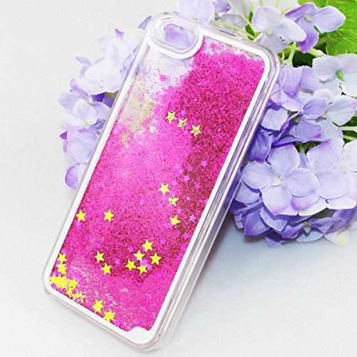 Flüssigkeit Glitzer Hülle für iPhone SE,Transparent Hülle für iPhone SE,iPhone 5S Clear Hard Case Hülle Klare Plastic Gel Schutzhülle Durchsichtig Rückschale Etui für iPhone 5,iPhone 5S Hülle Blumen C Star 4