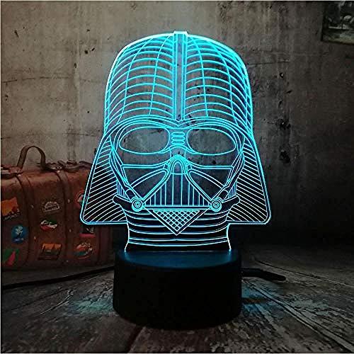 3D-Licht Folie Nachtlicht Kühlen Weiblichen Dc Superheld Led Rgb7 Farbwechsel Tischlampe Usb Kinder Geschenk Weihnachten Hauptdekoration