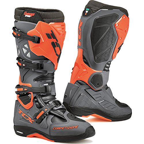 Tcx Comp Off-road-boot (9661 - TCX Comp Evo Michelin Motocross Boots 46 Dark Grey Orange Fluo (UK 11))