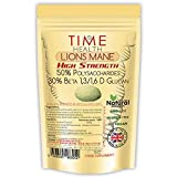 Lions Mane (Hericium Erinaceus) High Strength 50% Polysaccharides / 30% Beta 1,3/1,6 D Glucan, Erinacines & Hericenones - Fruit Body - Dual Extracted - No Additives - UK Made (60 Capsule Pouch)