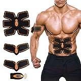[nueva versión 2017] Profesional abdominal músculo tonificación cinturón hogar entrenamiento fitness Gear, almohadillas de vibración para hombres y mujeres a tono, pérdida de peso, trimmer, delgado, tallador, fuerte (Abs fit+Body fit)