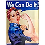 Nostalgic-Art We Can do it Placa Decorativa, 30 x 40 cm