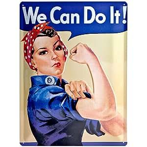 Nostalgic-Art 20321 USA - We can do it, Blechschild 30x40 cm