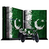 Stillshine Vinyl Decal Full Body Skin Sticker For Sony Playstation 4 PS4 console x 1 and controllers x 2 (Flags Pakistan)