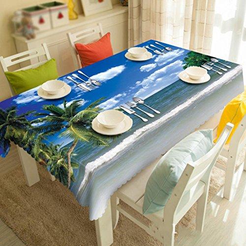 Meer Kokosnuss Tee Maschine Tuch personalisierte 3D Tischdecke Umwelt geschmacklos Digitaldruck , #1 , 50*130cm