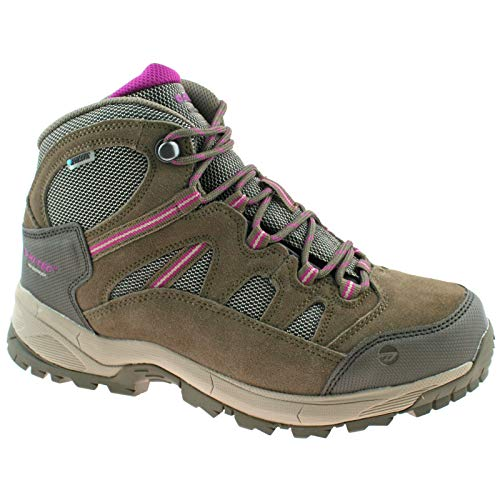 Hi-Tec Ladies Bandera Lite WP Taupe/Boysenberry Waterproof Hiking Walking Boots-UK 5 (EU 38)