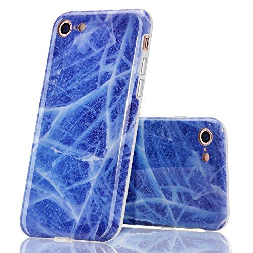 Cover per iPhone 6 Plus, Bonice TPU Gel Silicone Protettivo Custodia Case Cover Per iPhone 6 Plus/ iPhone 6S Plus - Viola Creativo 03