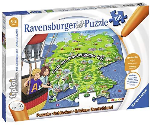 Ravensburger tiptoi 00831 - Puzzle: Deutschland, 100 Teile