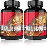 Holaxen Testosteron Booster By Varg Power | 240 Muskelaufbau Kapseln hochdosiert | Testo Booster + Potenzmittel + Fatburner | Nahrungsergänzungsmittel | Testosteronbooster