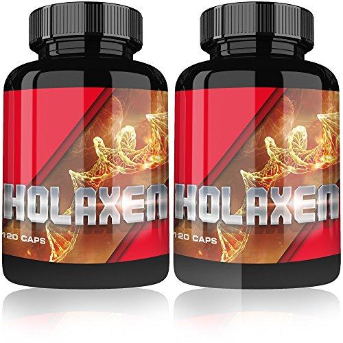 Holaxen Testosteron Booster By Varg Power   240 Muskelaufbau Kapseln hochdosiert   Testo Booster + Potenzmittel + Fatburner   Nahrungsergänzungsmittel   Testosteronbooster