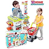 Smiles Creation™ Light & Sound Home Super Market Set With Shopping Trolley Toy For Kids