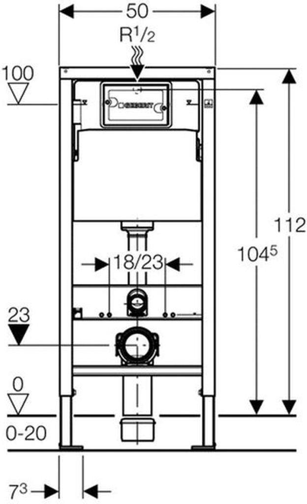 Erstaunlich Geberit 458103001 Montage-Element Duofix Basic für Wand-WC, mit  IR19