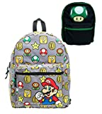 Sac A Dos -'Super Mario Bros' - Reversible - 1 Up & Field
