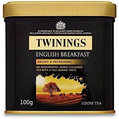 Twinings Colazione All'Inglese Tè Sfuso Caddy (Confezione da 4) - Twinings Colazione Tè