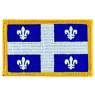 Akacha Canada Quebec Flag Flag Shield Embroidered Iron-On Patch Backpack