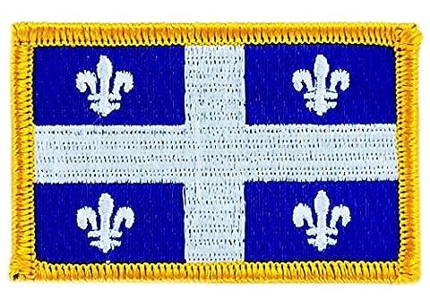 Patch écusson brodé drapeau quebec flag thermocollant canada backpack