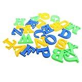 D DOLITY 26pcs Kunststoff Alphabet Sandformen Sand Strand Spielzeug Lernspielzeug Für Kinder - Mehrfarbig
