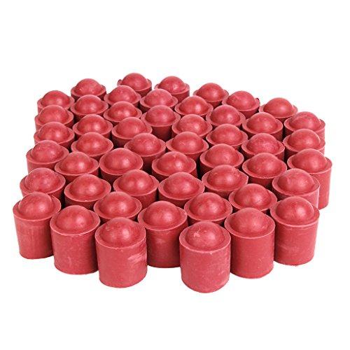 50 Stück Pool Billard Snooker stick Cue Tipp Protector Abdeckkappe (Rot)