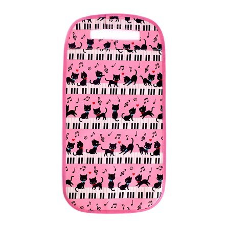Black cat waltz to dance on exciting school school bag cover Piano (Pink) made in Japan N4117700 (japan import)