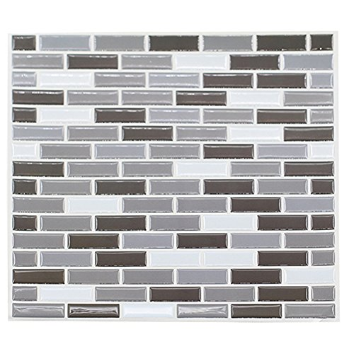 Bluelans® 23cm x 23cm Self Adhesive 3D Mosaic Brick Effect Wall Tile Decals Wall Sticker - Bathroom Tile Stickers / Kitchen Tile Stickers / Wall Tiles Transfers