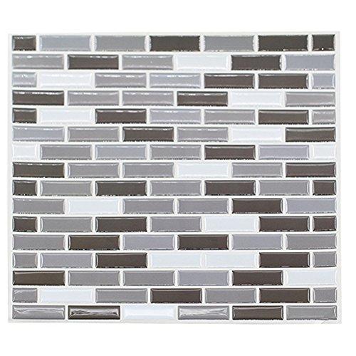 Bluelans® 23cm x 23cm Self Adhesive 3D Mosaic Brick Effect Wall Tile Decals Wall Sticker - Bathroom Tile Stickers / Kitchen Tile Stickers / Wall Tiles Transfers