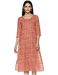 Ayukta Women's Cotton Straight Kurti