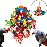 Balacoo African Grey Parrot Toys Shreddable Foraging Hanging Bird Cage Accessories