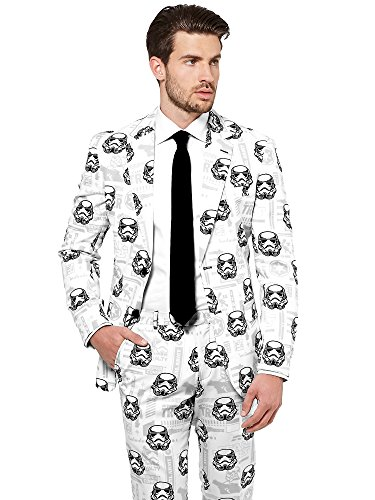Opposuits STAR WARSTM Suit - Official StormtrooperTM Costume Comes With Pants, Jacket and Tie, StormtrooperTM, 52 (Herren Storm Trooper Kostüm)