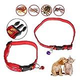 Kalttoy Hundehalsband, gegen Flöhe, Läuse, für Hunde, Katzen, Welpen, im Freien, mit verstellbarem Riemen