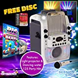 Mr Entertainer Bluetooth Home Karaoke Machine Package With Amazing Dancing Water Disco Lights