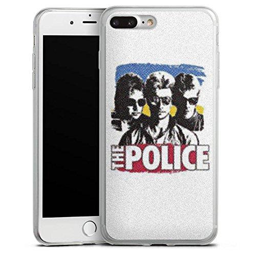 Apple iPhone 8 Slim Case Silikon Hülle Schutzhülle The Police Fanartikel Merchandise Sting Silikon Slim Case transparent