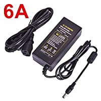 JNT- 12V Power Adapter DC12V Universal Adapter 1A 2A 3A 5A 6A 8A 10A AC 110V 220V 240V to DC 12 Volts 12 V Power Supply for LED Strip (Color : 6A, Size : UK)