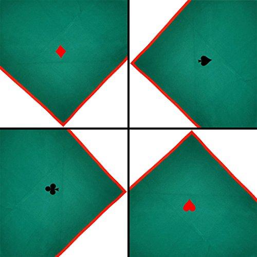 Poker Brücke Spiele Tischdecke 119.4X119.4cm Quadratisch Kasino-karte Nächte Grün In Der Maschine Waschbar Bestickt (Kasino-maschine)