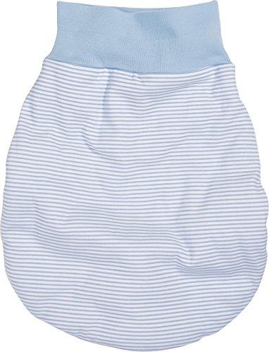 Schnizler Unisex Baby Schlafsack Strampelsack Ringel mit elastischem Umschlagbund, Oeko Tex Standard 100, Gr. One size, Blau (weiß/bleu 117)