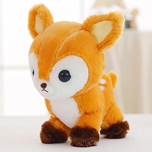 WYQLZ Dessin animé mignon faon bébé peluche enfant sika poupée de cerfs ( Couleur : Marron , taille : 35cm )